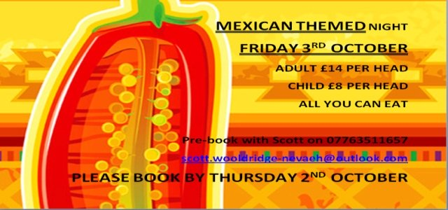 Mexican Themed Night Oct 2014