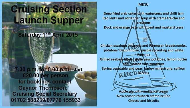 Cruiser Launch Supper 2015