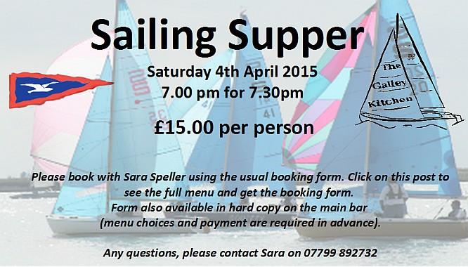 Sailing Supper 2015