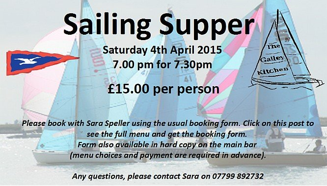 Sailing Supper 2015