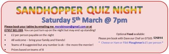 Sandhopper Quiz Nigh Ver 2